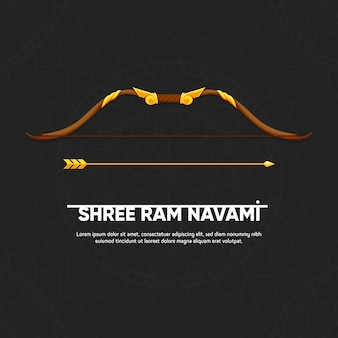 Colorful concept for ram navami day