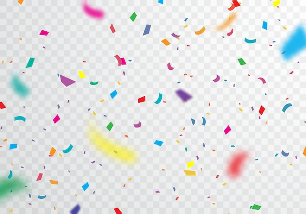 Colorful confetti background for festive celebrations