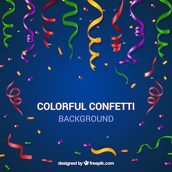 Colorful confetti background in realistic style