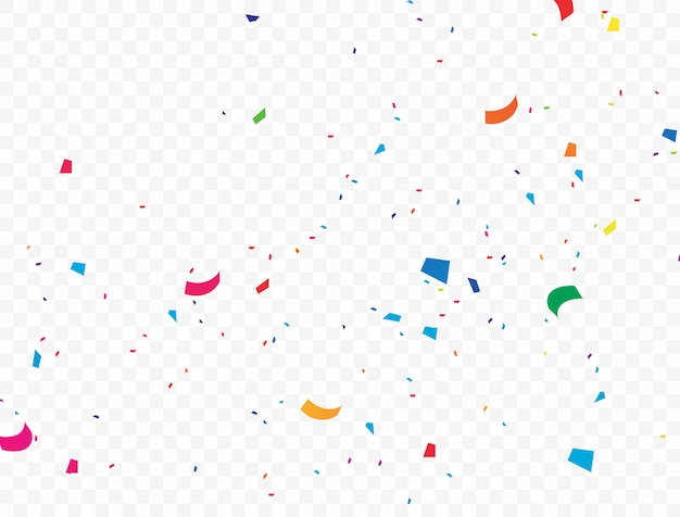 The colorful confetti background that is falling vector illustration
