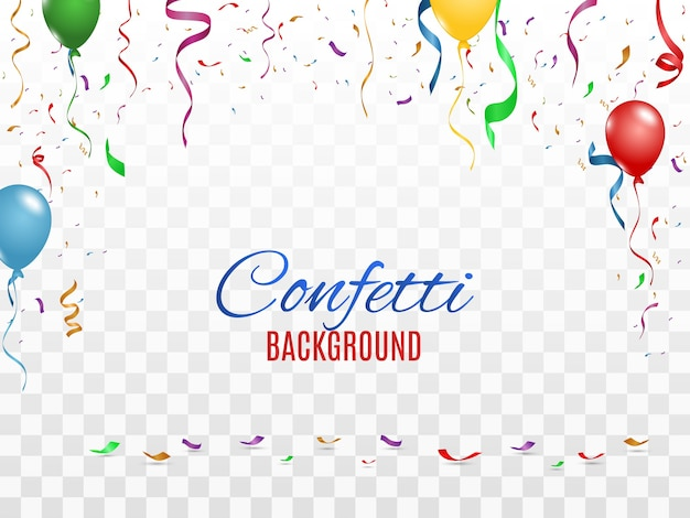 Colorful confetti and balls isolated. festive background vector. happy birthday. holiday.