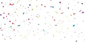 カラフルな紙吹雪お祝いカーニバルリボン。