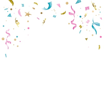 Colorful confetti celebratory design
