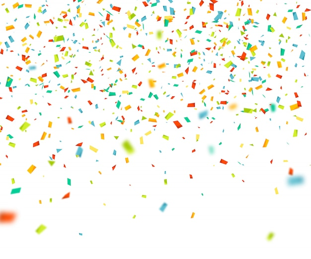 Colorful confetti falling randomly. abstract background with flying particles
