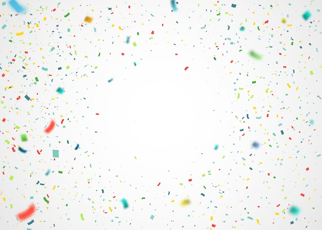 Colorful confetti flying randomly. abstract background with explosion particles
