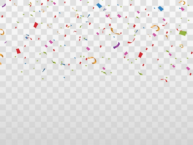 Colorful confetti isolated. festive background . happy birthday. holiday.