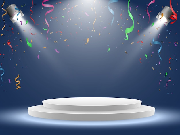 Colorful confetti isolated. festive background vector. happy birthday. holiday.