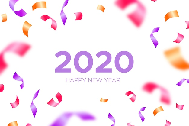 Colorful confetti new year 2020 background