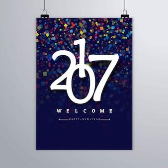 Colorful confetti of 2017 poster