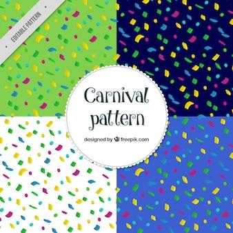 화려한 색종이 패턴