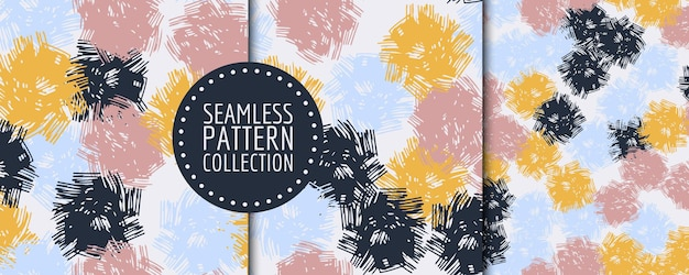 Colorful contemporary seamless pattern with abstract shapes. modern collage illustration in vector