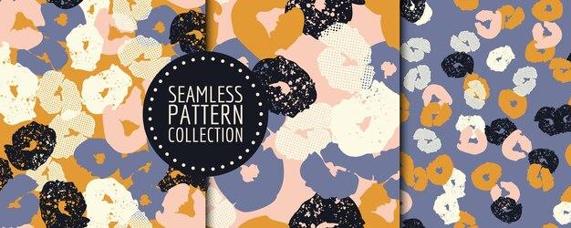 カラフルな現代的なシームレスなパターンと抽象的な形