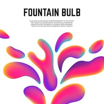 다채로운 현대 모양입니다. 액체 또는 유체 요소, 스플래시 배경을 색칠합니다. 매직 아트 벡터 포스터입니다. 현대 추상 화려한 장식 그림