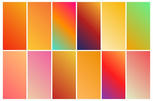 Colorful cool gradient collection