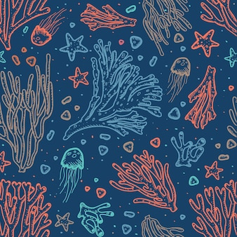 Colorful coral pattern