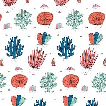 Modello di corallo colorato Vettore gratuito