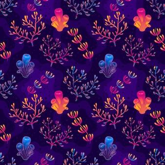 화려한 산호 패턴