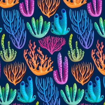 カラフルなサンゴ柄