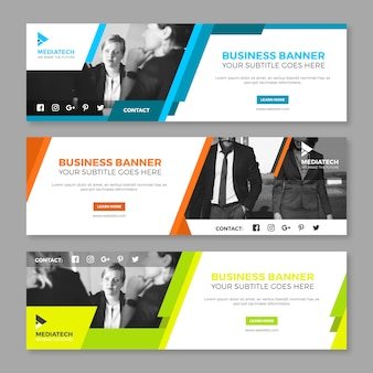Colorful corporate banner collection