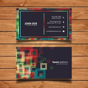 Colorful corporate card with frames