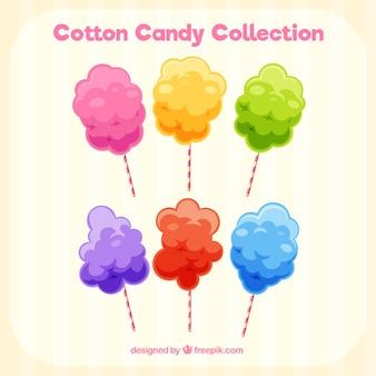 Accumulazione variopinta di caramelle di cotone