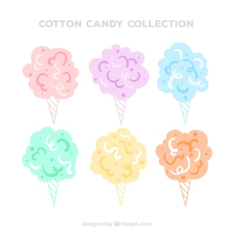 Colorful cotton candy pack