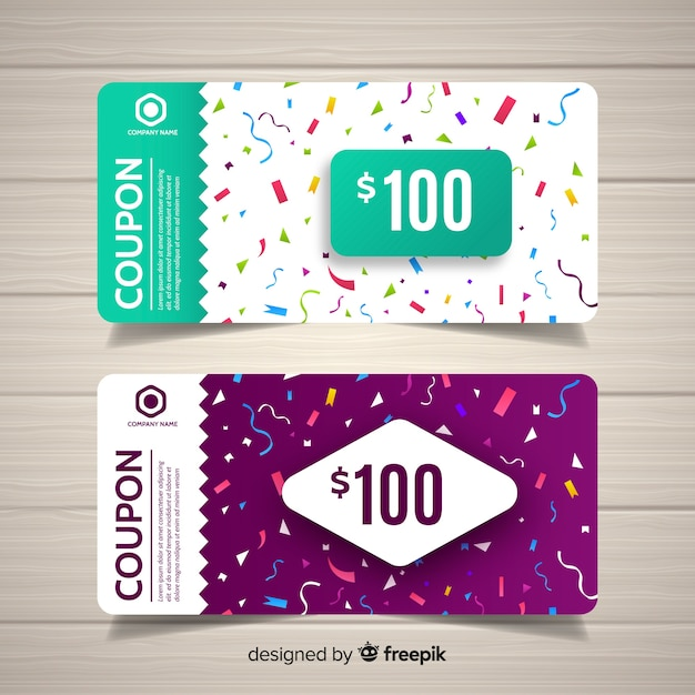 lucky draw coupon design vector