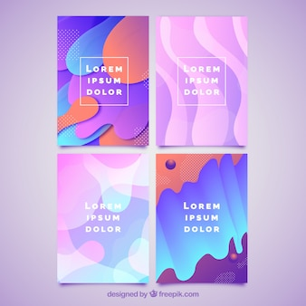 Colorful cover collection with bubble shapes