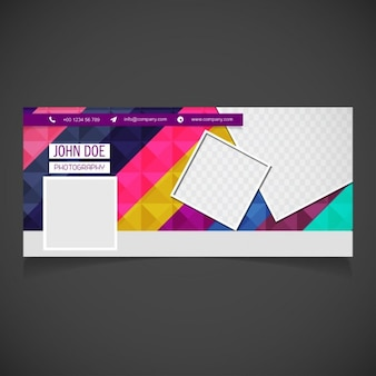 Colorful cover facebook Free Vector