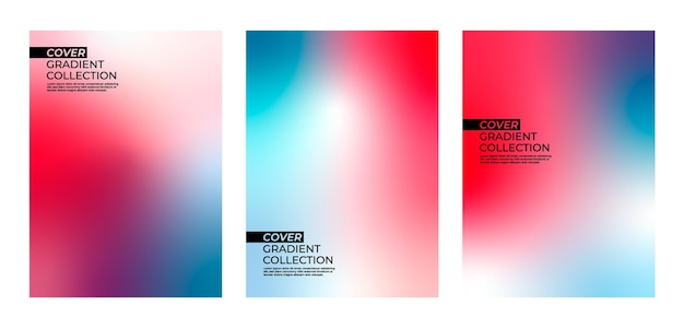 Colorful cover gradient collection