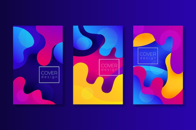 Concetto di modello di copertina colorata