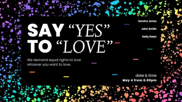 Colorful crayon art template vector for pride month