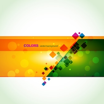 Colorful creative banner design
