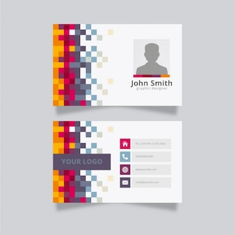Colorful creative business card template Free Vector