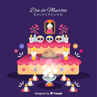 Colorful creative día de muertos background