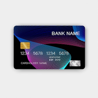Colorful credit card design. with inspiration from abstract.