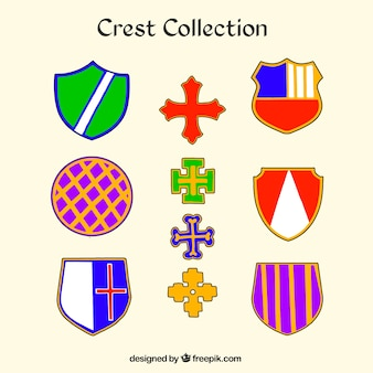 Colorful crest collection