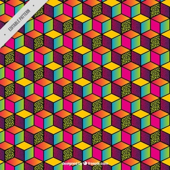 Cubo di sfondo colorato