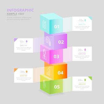 Разноцветные кубики инфографики