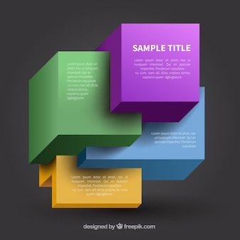 Colorful cubes template