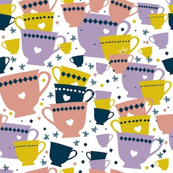Colorful cups pattern