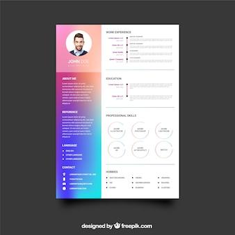 Цветной шаблон учебного плана с плоским дизайном