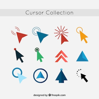 Colorful cursor collection