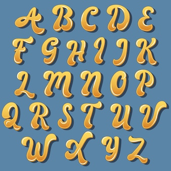 Colorful curvy typography design