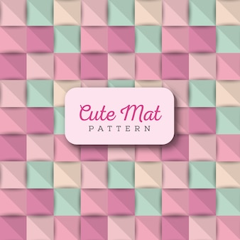 Colorful cute mat pattern