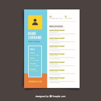 Colorful cv template