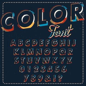 Colorful dark alphabet design