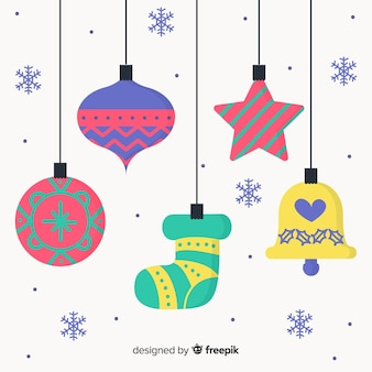 Colorful decoration christmas background