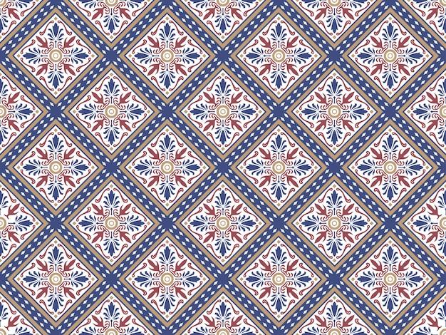 Colorful decorative ceramic seamless tiles