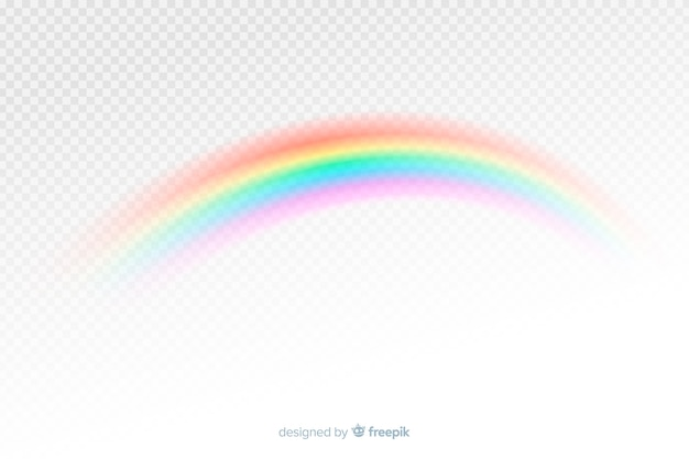 Colorful decorative rainbow realistic style